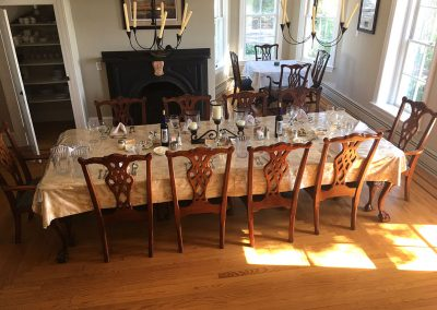 table set in lodge